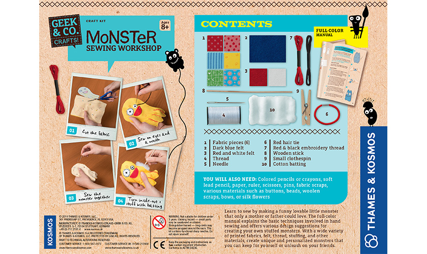 Craft kits monster sewing workshop learn to sew by stitching up cute stuffed animals solutioingenieria Image collections