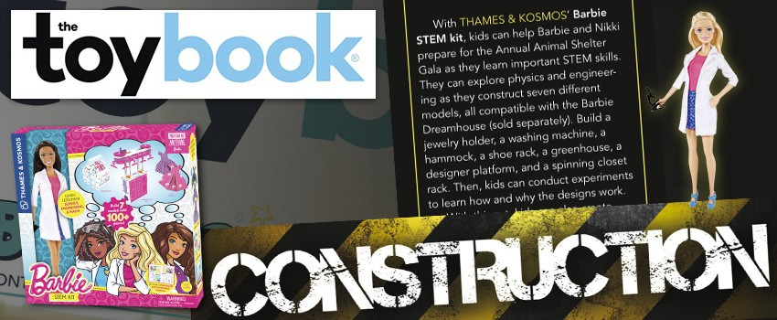 The Toy Book features Barbie STEM Kit in an article about construction toys