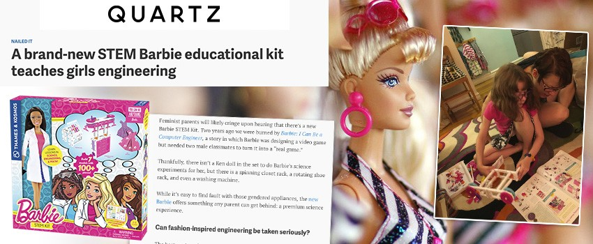 Quartz.com explores How Barbie can teach girls engineering