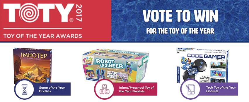 VOTE! Three T&K Kits and Games are TOTY Finalists!