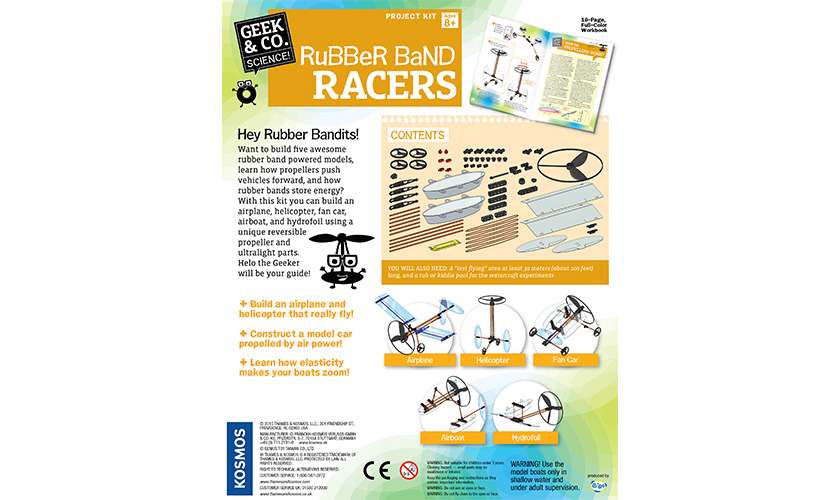 Science Kits Rubber Band Racers