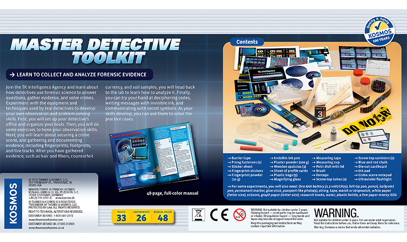 Science Kits Master Detective Toolkit