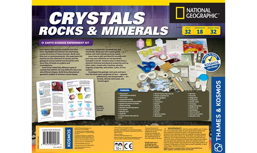 Science Kits: Crystals Rocks & Minerals