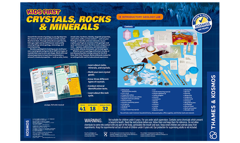 Science Kits: Kids First Crystals, Rocks, and Minerals