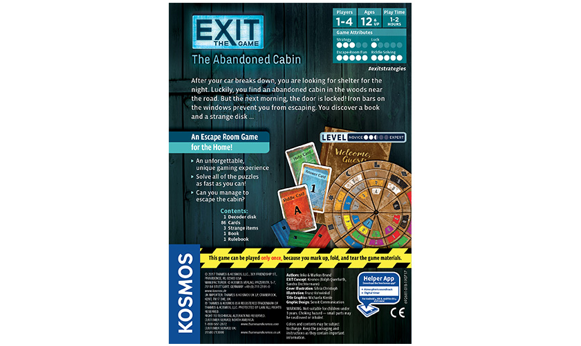 Games: Exit: The Abandoned Cabin