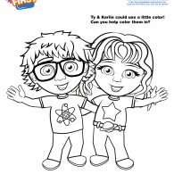 Kids First Ty & Karlie Coloring Page (ACTIVITY)