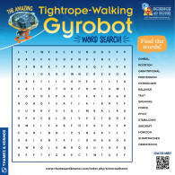 Amazing Tightrope-Walking Gyrobot Word Search (ACTIVITY)
