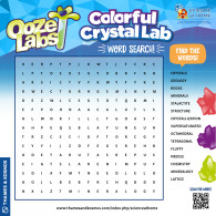 Ooze Labs Colorful Crystal Lab Word Search (ACTIVITY)