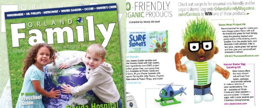 Grass Head in Orlando Family Magazine