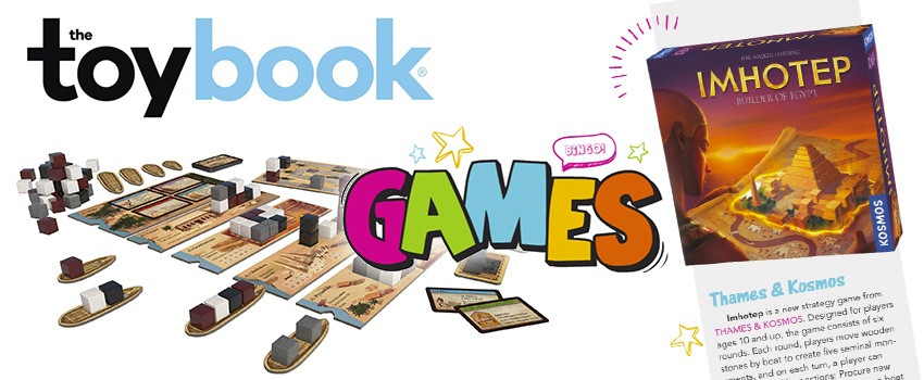 The Toy Book features Imhotep in their line-up of great board games