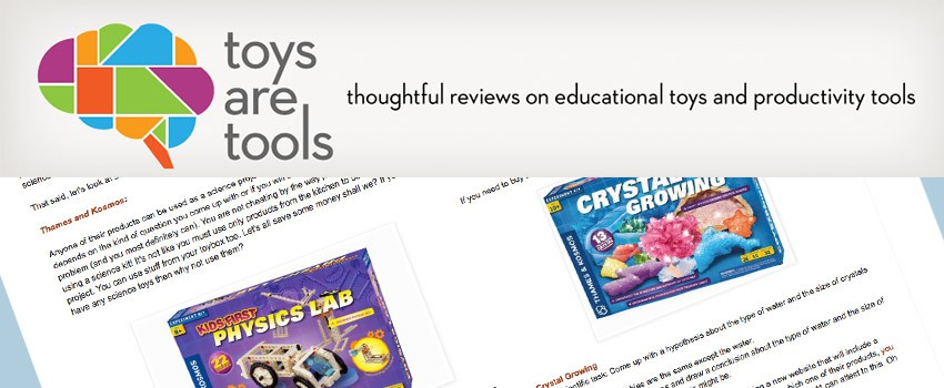 Kids First Physics Lab and Crystal Growing on Toys Are Tools