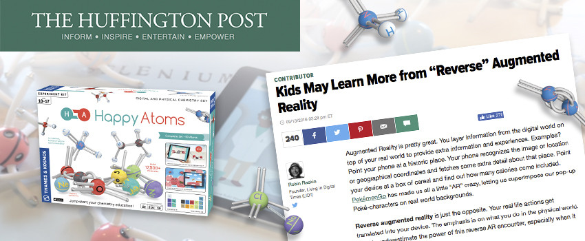 The Huffington Post includes Happy Atoms in an article about