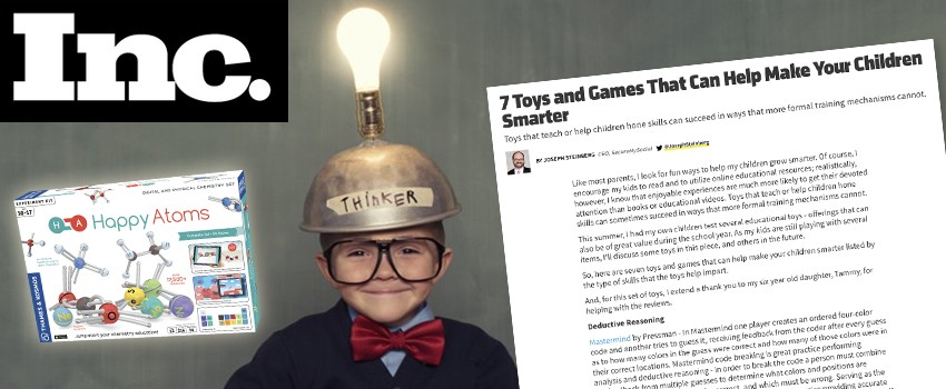 Inc. says: Happy Atoms can help make your children smarter
