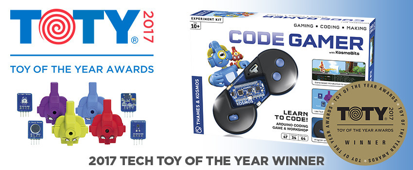 CodeGamer is named Best Tech Toy of the Year!