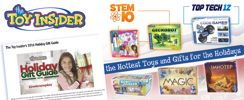 Six T&K Kits and Games named to Toy Insider's Holiday Gift Guide